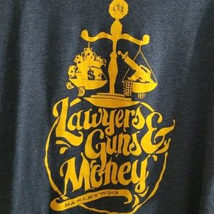 Lawyers guns & money mens tshirt sz xl